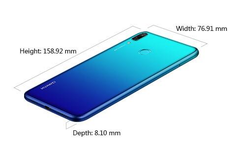 اندازه و ابعاد گوشی وای7 پرایم هواوی