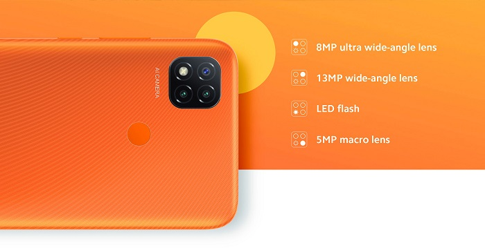 تصویر دوربین پشتی Redmi 9C