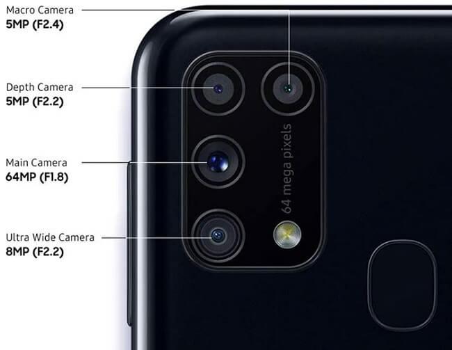 مشخصات دوربین m 31