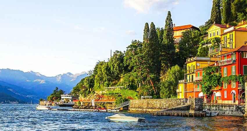 دریاچه como در ایتالیا