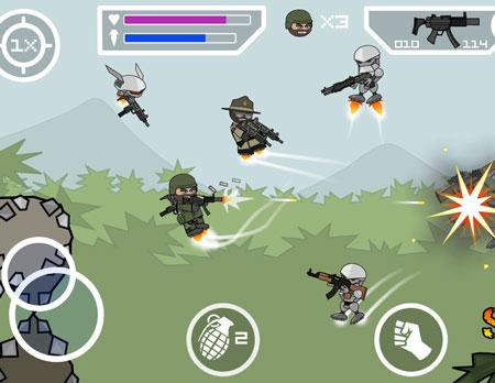 بازی Mini Militia - Doodle Army 2