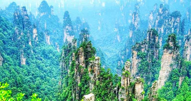 کوه های tianzi چین